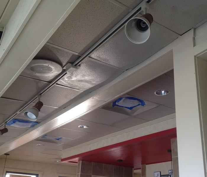 Water damage at Dairy Queen in Lapeer Before